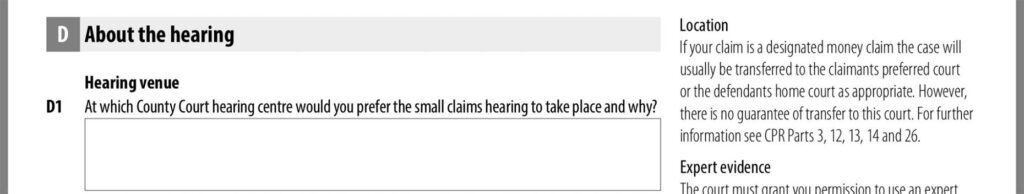 About the hearing
